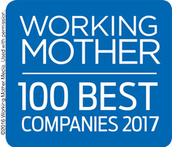 Working Mother magazine's 100 Best Companies Badge