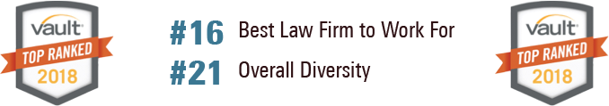 Vault #16 Best law firm to work for banner
